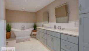 Master Bath With Floating Vanity
