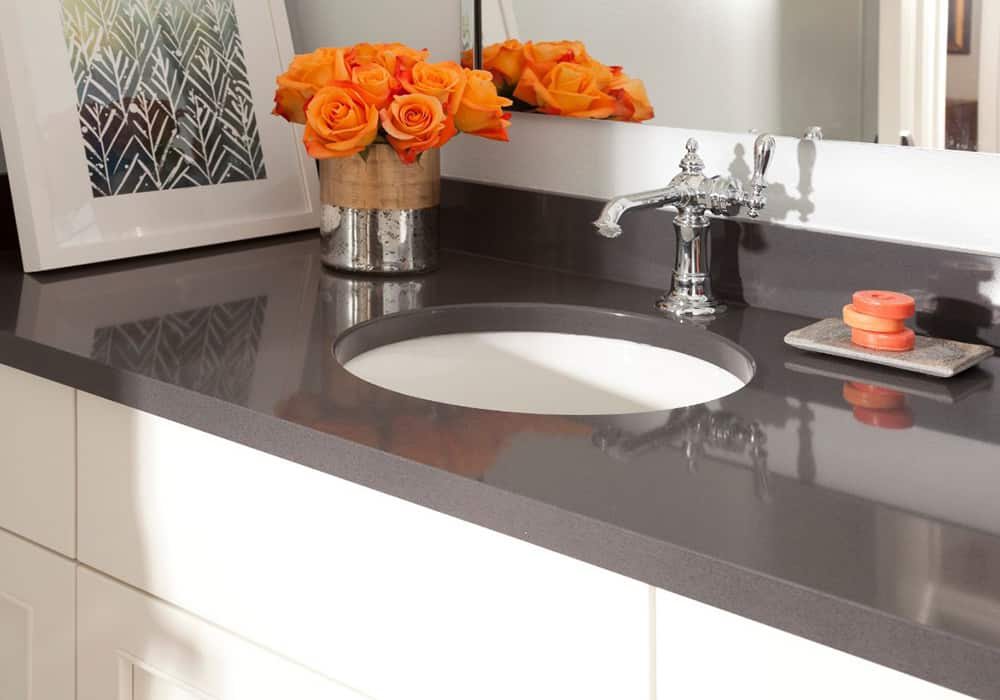 cambria grey vanity countertop