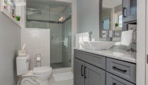 Grey Master Bath Vanity