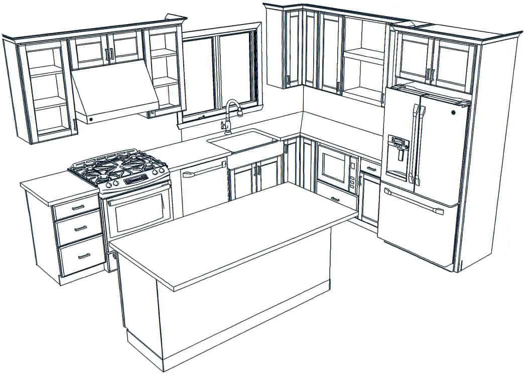 Custom Kitchen Design 1 Norfolk Kitchen Bath