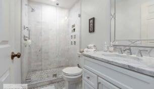 Bright & White Bath Remodel - Braintree, MA