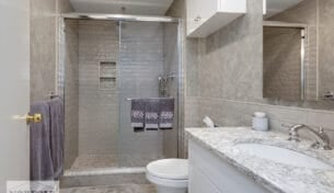 Newton Custom Bath Remodel With Rainfall Shower