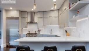 Contemporary Grey Kitchen - South Boston