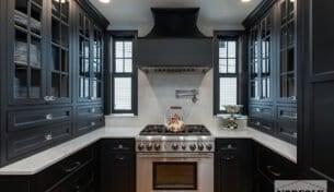 Classic Matte Black Kitchen Remodel