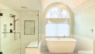 Modern Master Bath Remodel In Bedford, NH