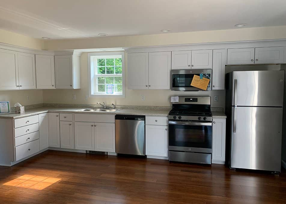 new kitchen in habitat for humanity house in Easton, MA
