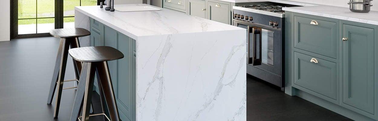 silestone quartz kitchen countertops in calacatta gold