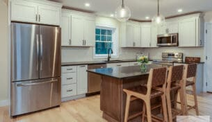 Two Tone Kitchen In Hudson, NH