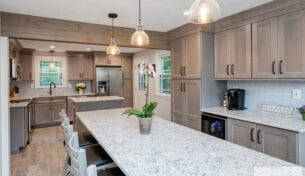 Gray Stain Kitchen in Wilmington, MA