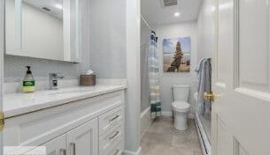 Scituate White Bath Remodels