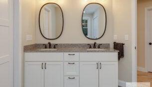 Double White Bath Vanity in Hudson, NH