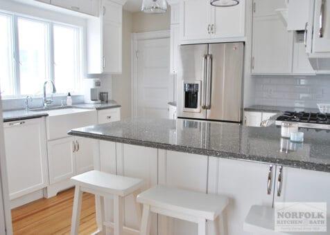 white kitchen remodel in Hull, MA