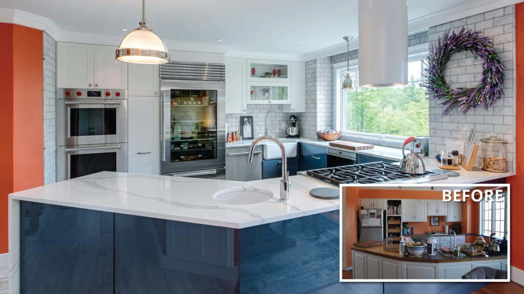 before and after kitchen remodel in Goffstown, NH
