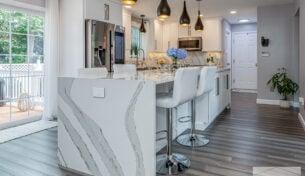 Contemporary White Kitchen - Attleboro, MA