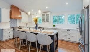 Blue & White Kitchen - North Andover, MA